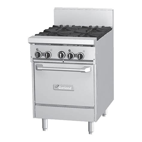 Garland Cooktop buy garland gfe24 4l starfire pro 24 quot gas restaurant range 4 burner w oven at kirby