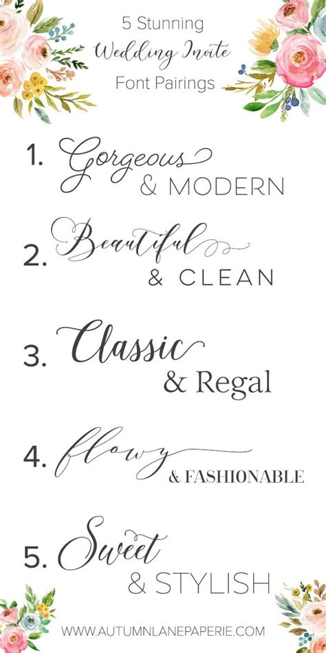 Wedding Fonts by Best 25 Font Pairings Ideas On Font