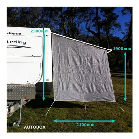 privacy screens for caravan awnings caravan end wall privacy screen 2300 x 2100 sun shade