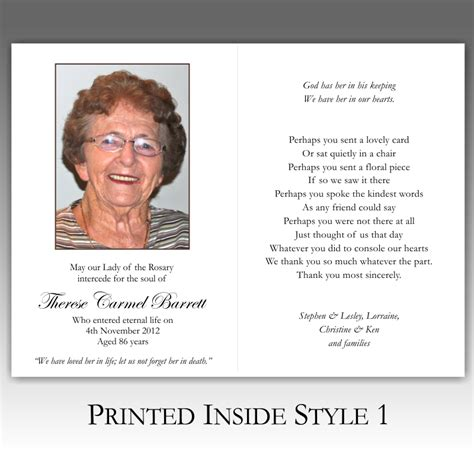 how to make memorial cards for funeral memorial card quotes for funerals quotesgram