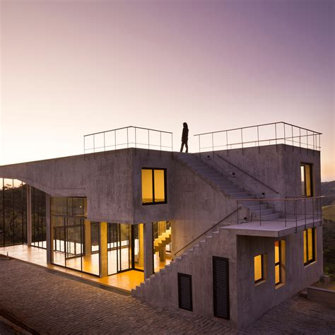 architects and designers houses dezeen cerrado house by vazio features terraces overlooking