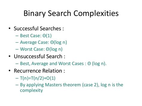 Best Worst And Average Of Binary Search Divide And Conquer 1
