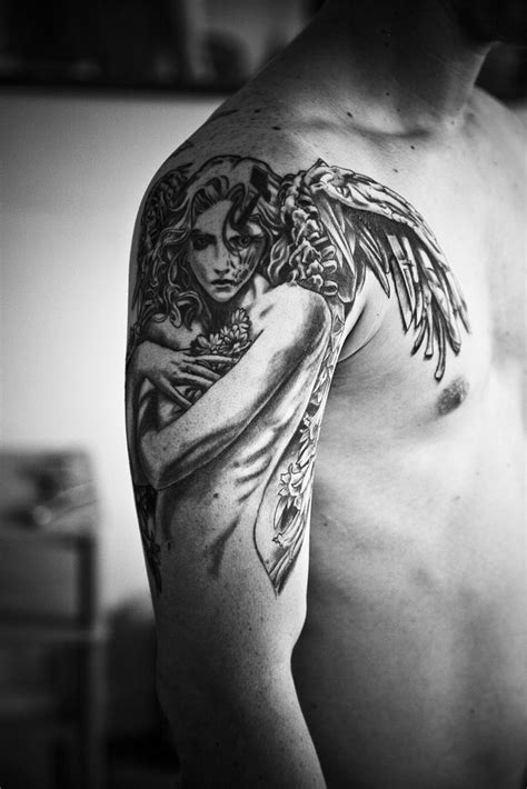 tattoo angel manga manga angel full shot tattoo a photo on flickriver
