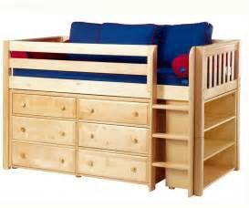 Low Loft Bunk Bed Maxtrix Low Loft Bed W Dresser Bookcase Bed Frames Matrix Furniture Boy S Bedroom