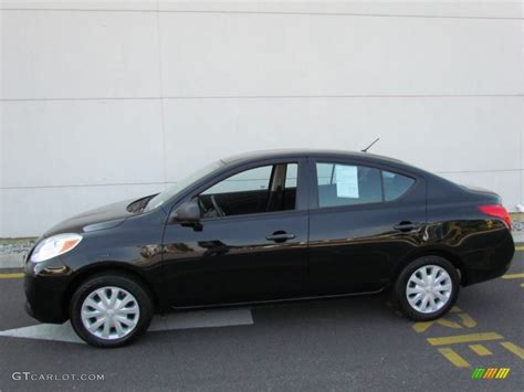 nissan versa black 2012 black nissan versa 1 6 s sedan 67594144 photo