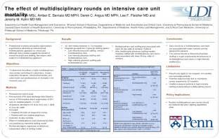 the effect of multidisciplinary rounds on intensive care
