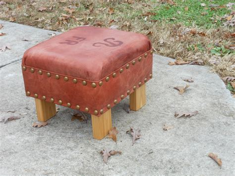 rustic leather ottoman rustic leather louise stool footstool or ottoman