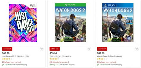 Target Buy 50 Get 10 Gift Card - hot target get 50 gift card when you buy 2 video games