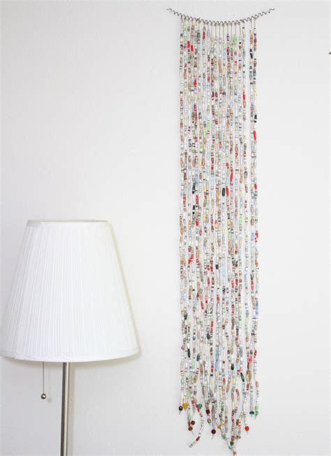 paper curtains book bead curtain art trashy craft 63 recycled craft