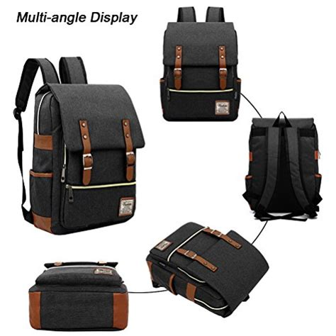 Bag Fashions Import Xs749 Gray unisex professional slim business laptop backpack feskin import it all