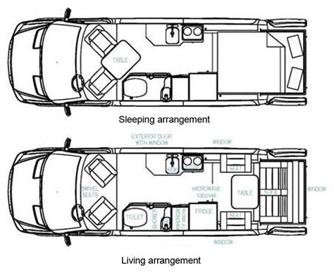 class b rv floor plans roadtrek ss ideal class b motorhome floorplans large picture