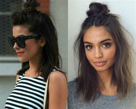 pictures hairstyles 2017 flirty half top knots hairstyles 2017 pretty hairstyles com