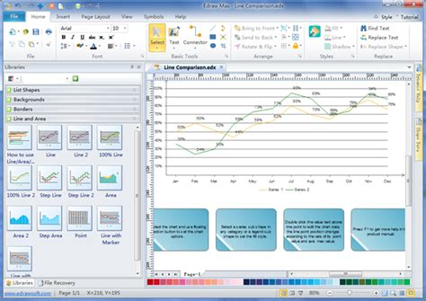 chart graph software line graph charting software