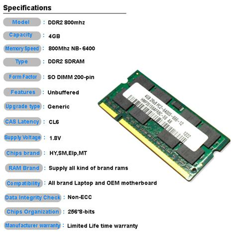 Memoryram Ddr2 For Pc 256 Mb best price non ecc 256mb 8 cheap ram memory so dimm ddr2 4gb view 4gb ddr2 ram ght product