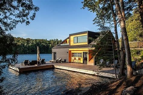 charming lake house on lake joseph canada by altius