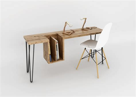 bureau bois design bureau high table par ehoeho d 233 co design