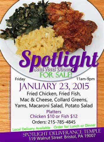 upcoming events spotlight soul food dinner sale spotlight