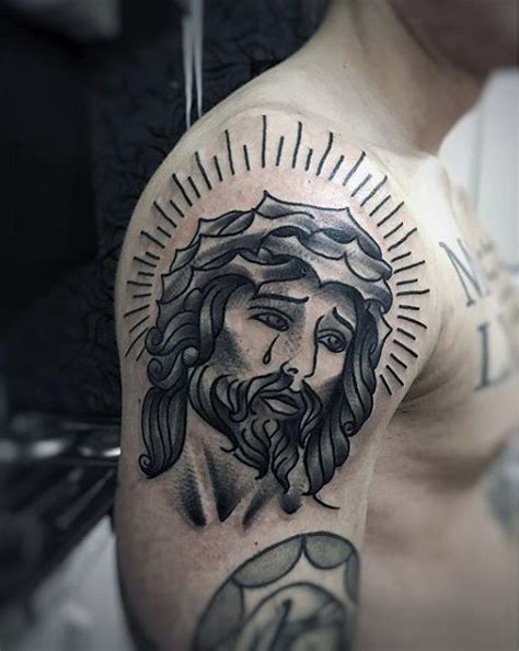 traditional jesus tattoo 100 jesus tattoos for cool savior ink design ideas