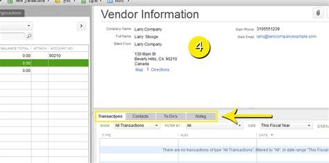 quickbooks tutorial notes free quickbooks tutorials edit vendors information in