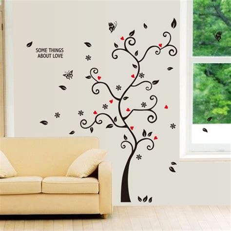 Wall Sticker Stiker Dinding Yang Chic Hitam Foto Keluarga Bingkai Pohon Kupu Kupu