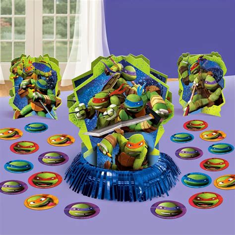 Turtle Themed Birthday Supplies by Mutant Turtles Themed Birthday