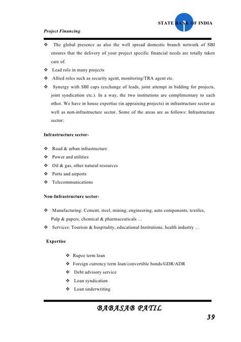 Mba Finance Project On Credit Appraisal by Financial Appraisal Sbi Project Report Mba Finance