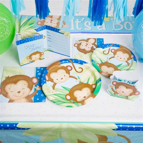 Monkey Baby Shower Plates by Boy Monkey Baby Shower Cocktail Napkins 16ct