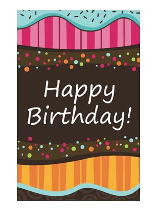 microsoft powerpoint birthday card template birthday card dots and stripes half fold