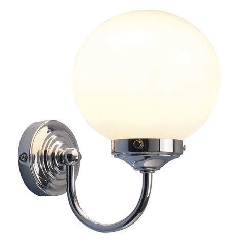 Dar Bathroom Lighting Dar Dar Bar0750 Barclay 1 Light Switched Bathroom Wall Light Polished Chrome Ip44 Wall Lights