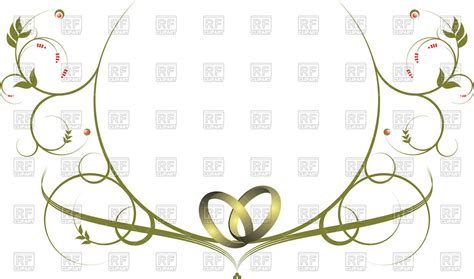 Wedding Borders With Rings by Ornamental Frame With Wedding Rings Royalty Free