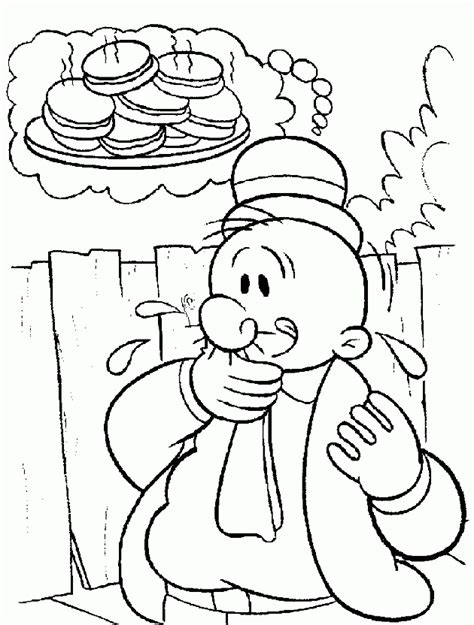 popeye coloring pages printable az coloring pages