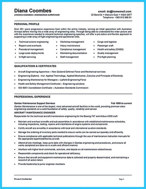 aircraft mechanic helper resume