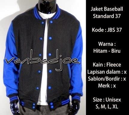 Jaket Baseball Fleece Fleece Biru jaket baseball hitam biru 37 vanbadjoe