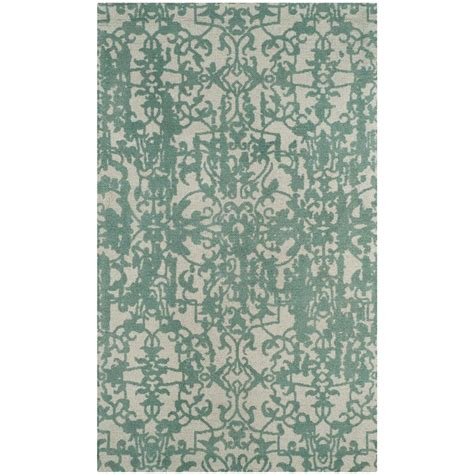 turquoise and gray area rug safavieh restoration vintage gray turquoise 3 ft x 5 ft area rug rvt101c 3 the home depot