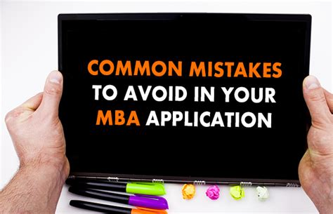 Mba Mistakes To Avoid by Common Mistakes To Avoid In Your Mba Application