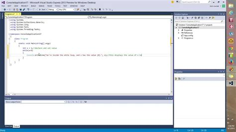 coding loop coding a simple while loop in visual c and visual studio