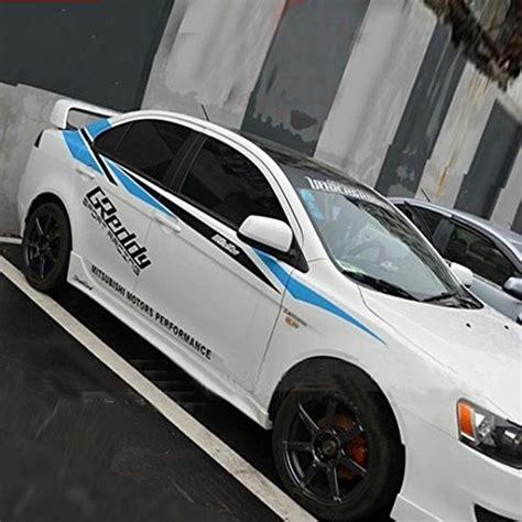 Sticker Striping King car sticker decal automobile decor sports racing stripe for mitsubishi lancer ex galant delica
