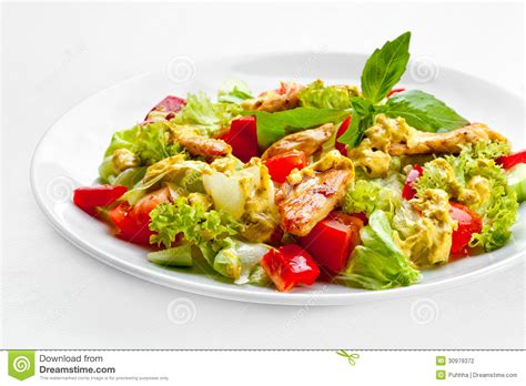 high quality food a tasty food the salad with roasted chicken high quality ima stock photo image