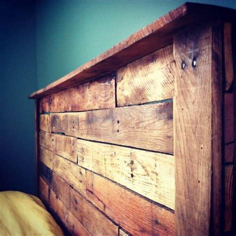 diy wood pallet headboard 10 diy pallet headboard designs diy and crafts