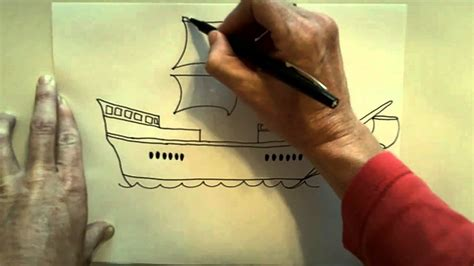 how to ship a how to draw a christoper columbus ship