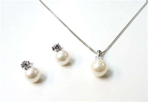 Hochzeit Set Perlen by Zur Hochzeit Aus Sterling Silber