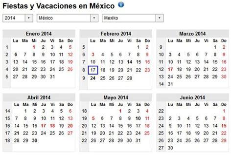 Calendario 2015 Mexico Con Dias Festivos Calendario 2014 Con D 237 As Festivos De M 233 Xico Calendario