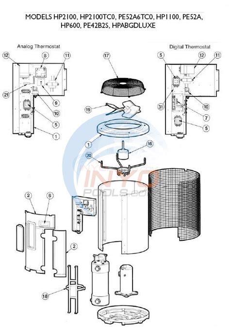 hayward heatpro pool heater model hp 2100 hayward heatpro models hp2100 hp2100tc0 hp1100 hp600