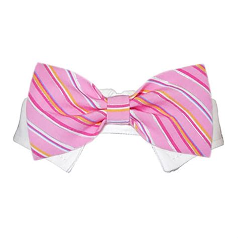 shirt collar and bow tie pink striped with same