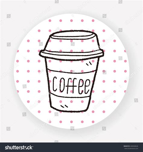 doodle coffee coffee doodle stock vector illustration 408368626