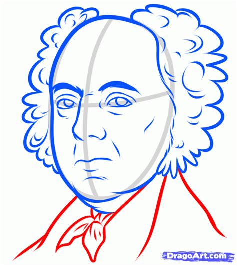 How To Draw Step By Step John Adams   how to draw john adams john adams step by step stars