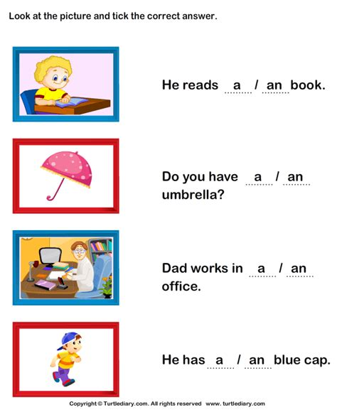 A Or All Worksheets 187 A And An Worksheets Printable
