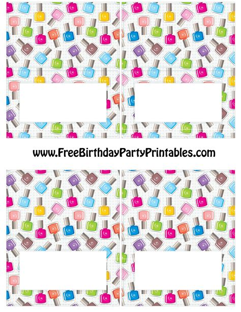 birthday place card templates free free nail birthday printables