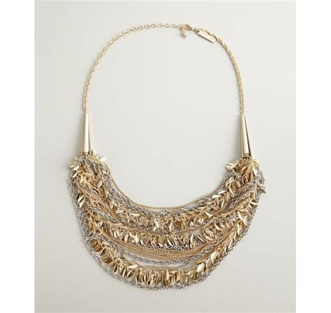 mixing gold and silver kendra scott gold and silver weslee mixed chain necklace