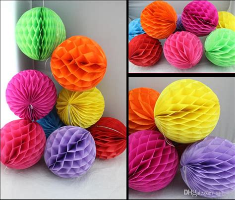 How To Make Honeycomb Paper Flower - best 8 inch decorative tissue paper flowers lantern